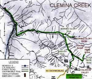 Clemina Creek Trail Map