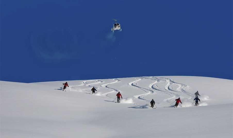 Heli-Skiing at Mica Mountain Lodge